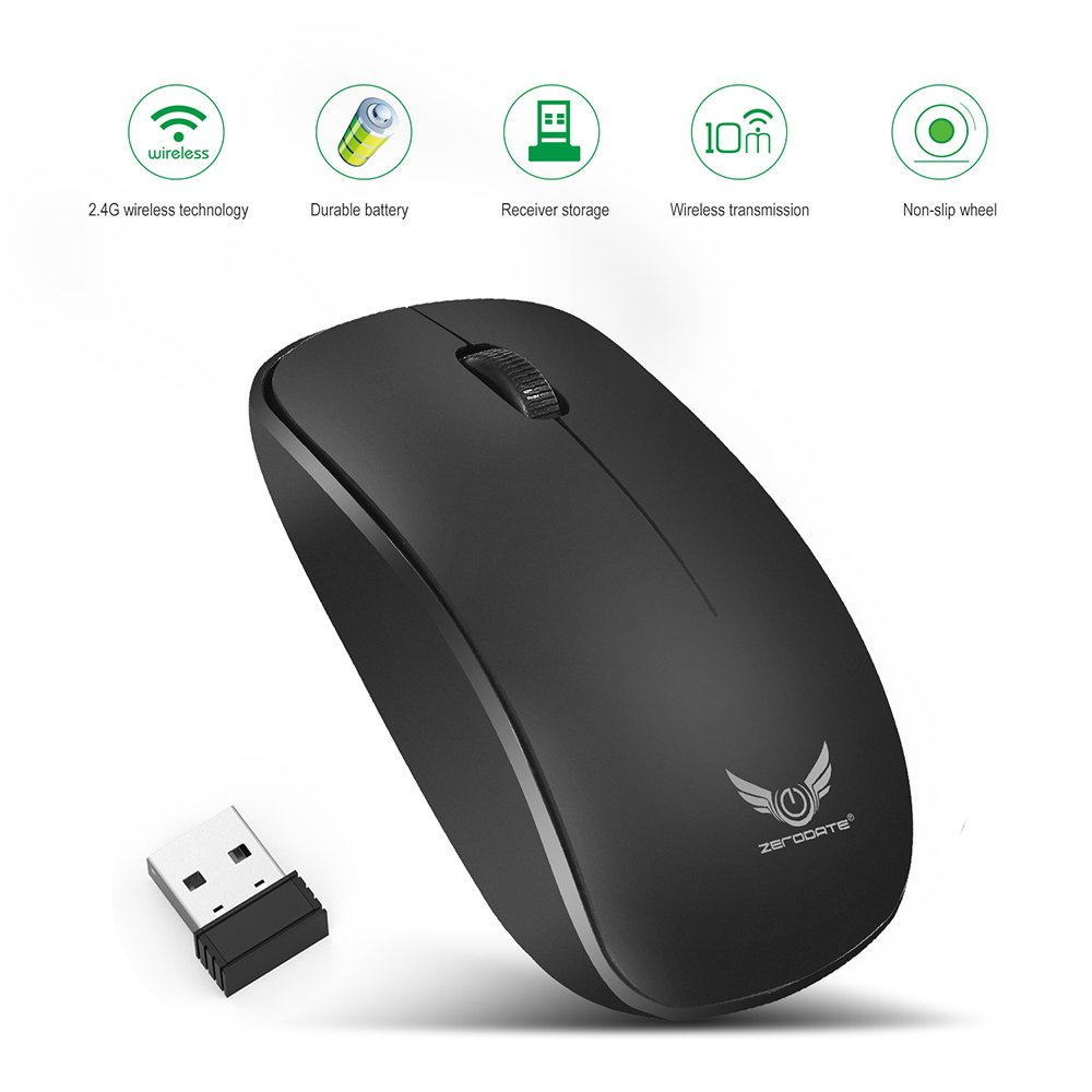 Wireless Mouse High Performance Professional Portable Office Home for £6.37