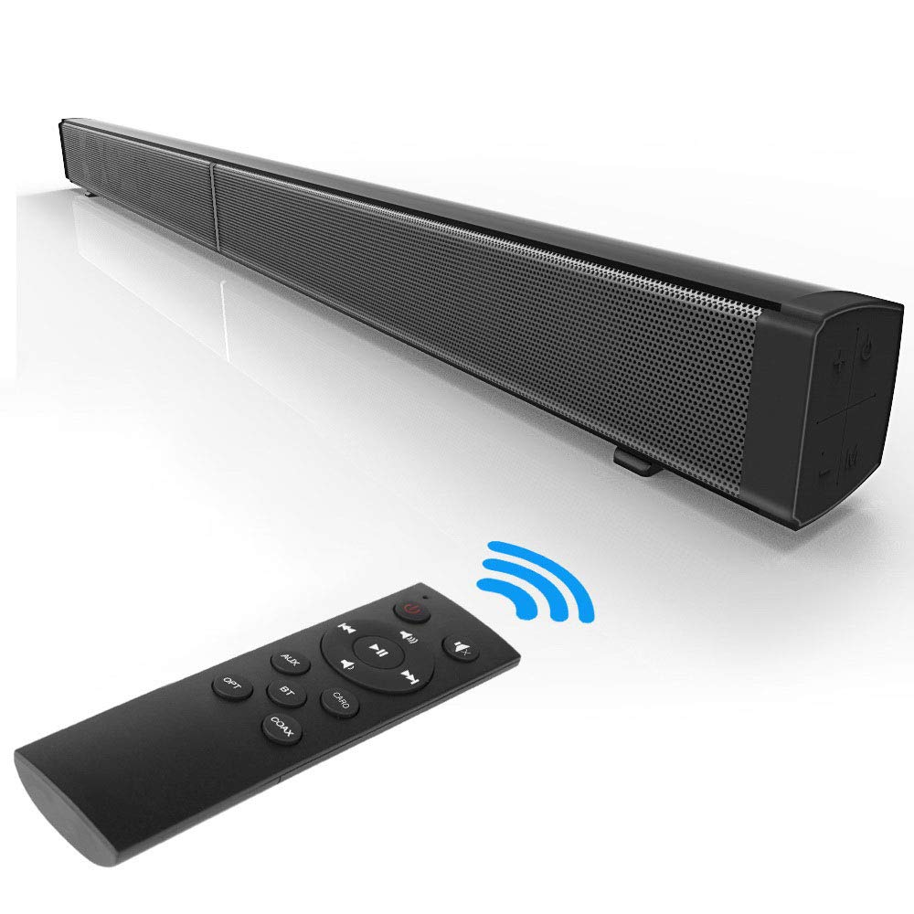 TV Sound bars with Bluetooth Wireless & Wired Home Theater Speaker Surround for £42.49
