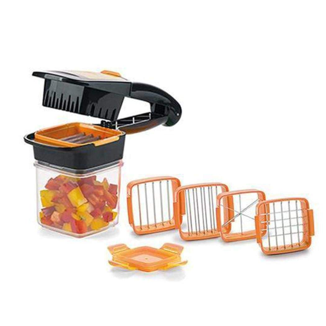 Hanime Multi-function Press Type Cutters Fruit Vegetables Quick Cutter Kit Barbecue Tool Sets for £12.41