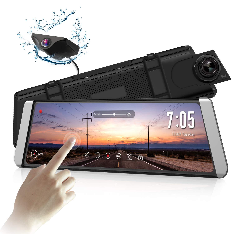 AUTO-VOX X1 9.88″ Mirror Dash Cam Stream Media