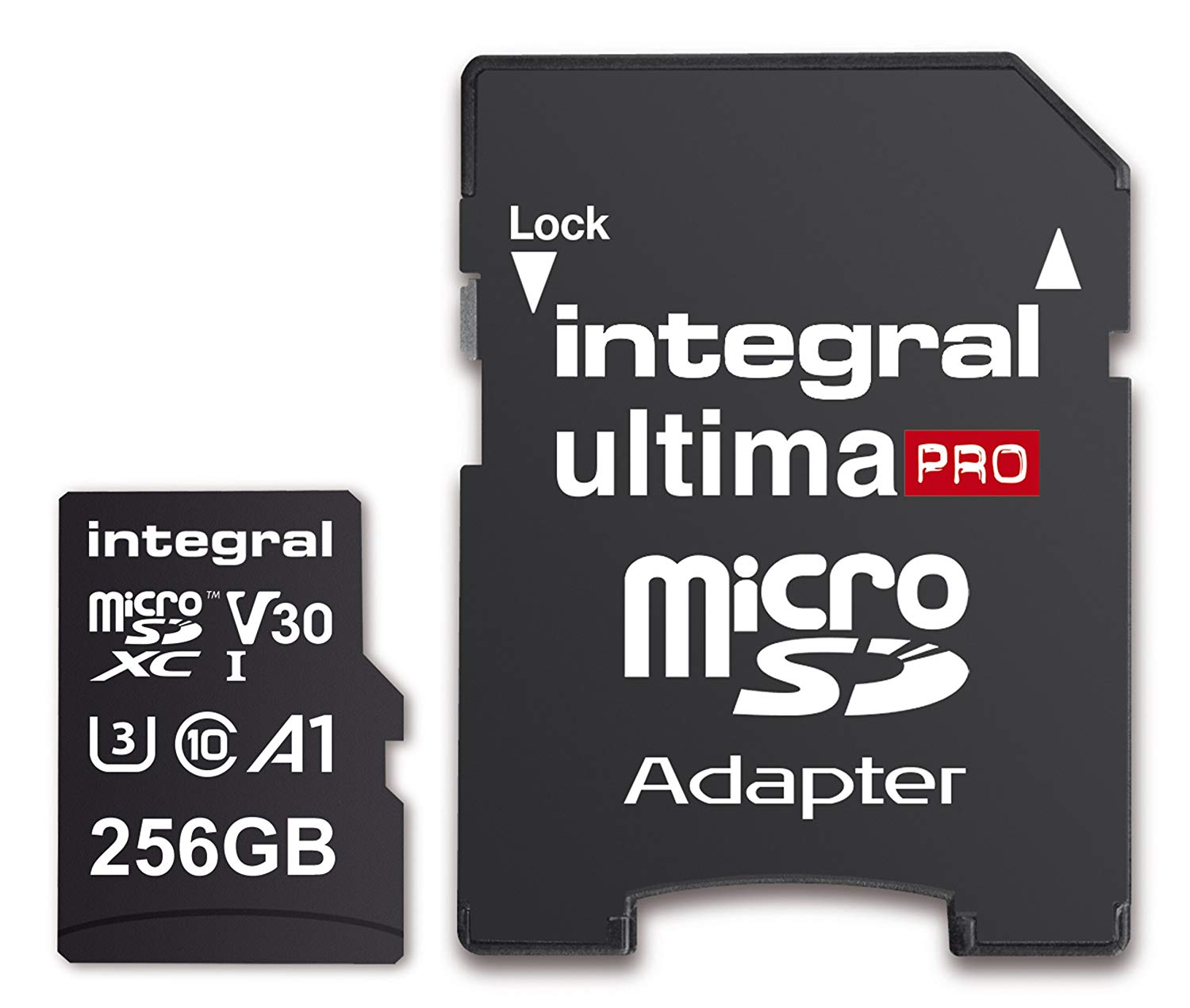 Integral 256GB Premium High Speed Micro SD (microSDXC) Up to 100MB/s V30 UHS-I U3