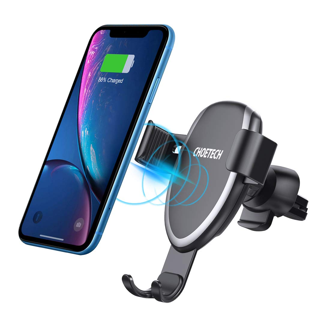 CHOETECH 7.5W Fast Wireless Car Charger Mount