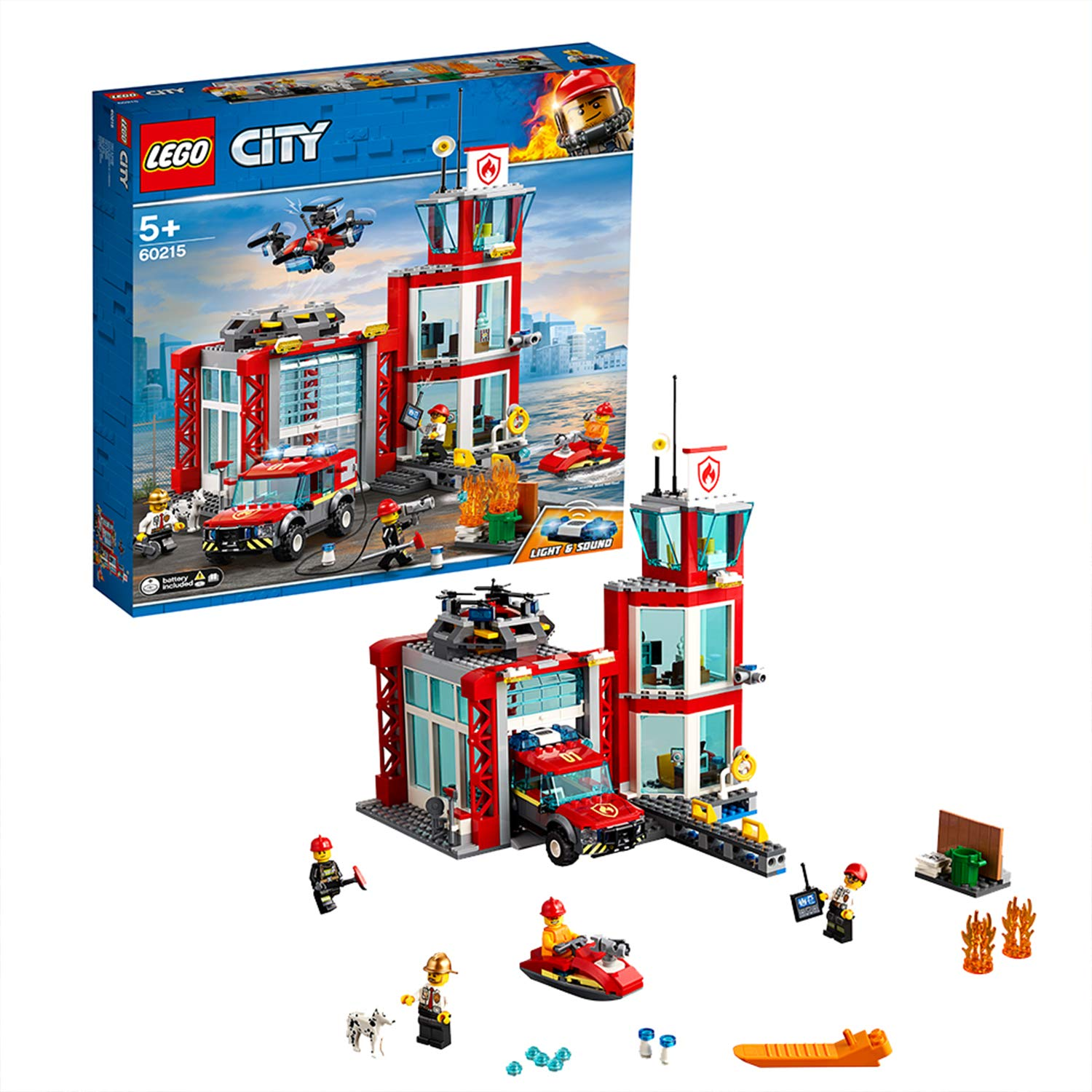 LEGO 60215 City Fire Station Building Set for £41.99