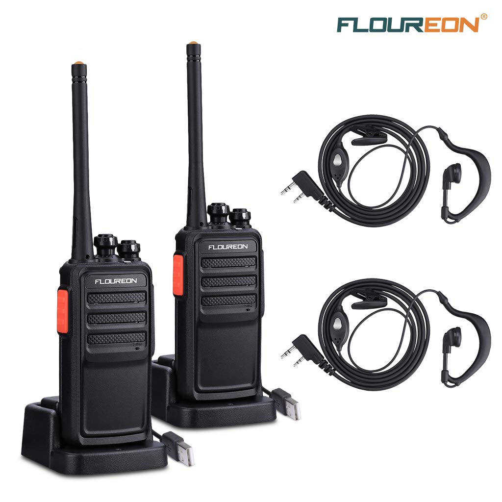 FLOUREON Rechargeable Walkie Talkies 16 Channel PMR 446MHZ License-free for £16.65