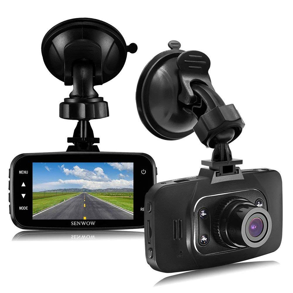 "SENWOW Dash Cam 1080P Full HD Car Camera 2.7"" LCD Driving Video 3-Lane Wide Angle 4 IR for £29.99"