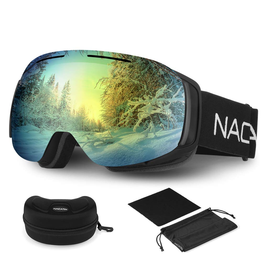 80% off Snowboard Goggles,Detachable OTG Ski Goggles for Men and Women for £3.19