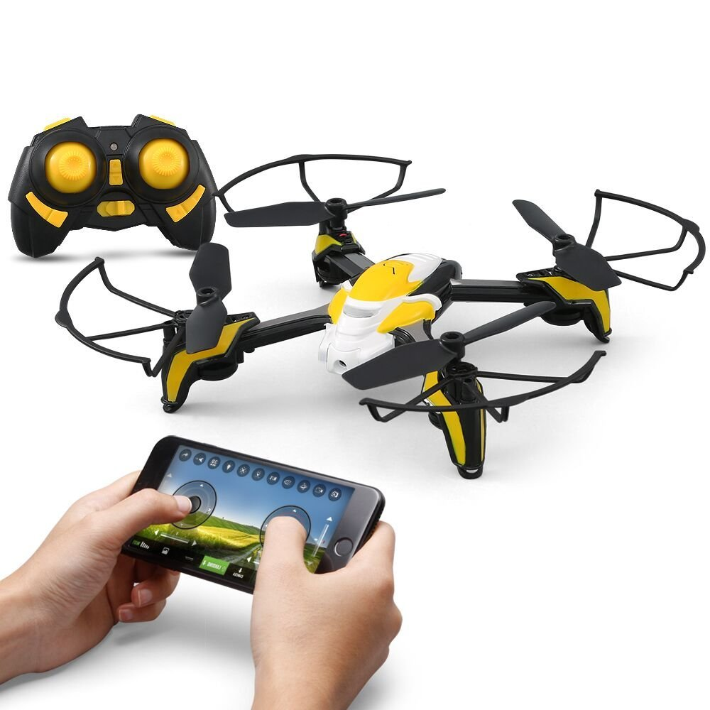 K90 Wifi FPV Mini RC Drone, 3D Flip Rolls, Altitude Hold, Headless Mode, APP Control/Transmitter Operate