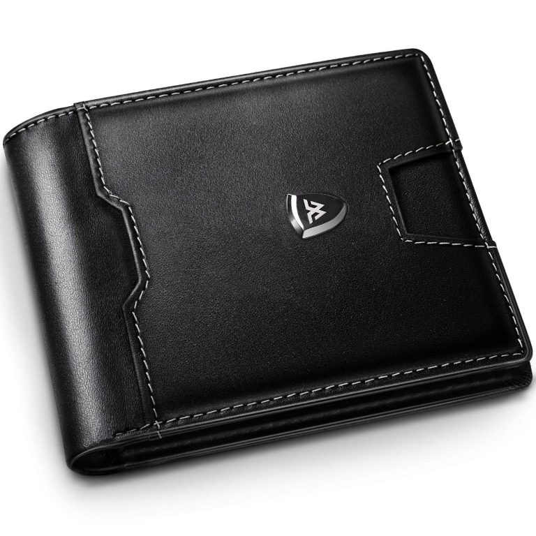 RFID Blocking Wallets Mens, Genuine Leather, 15 Credit Card & Holder Slots