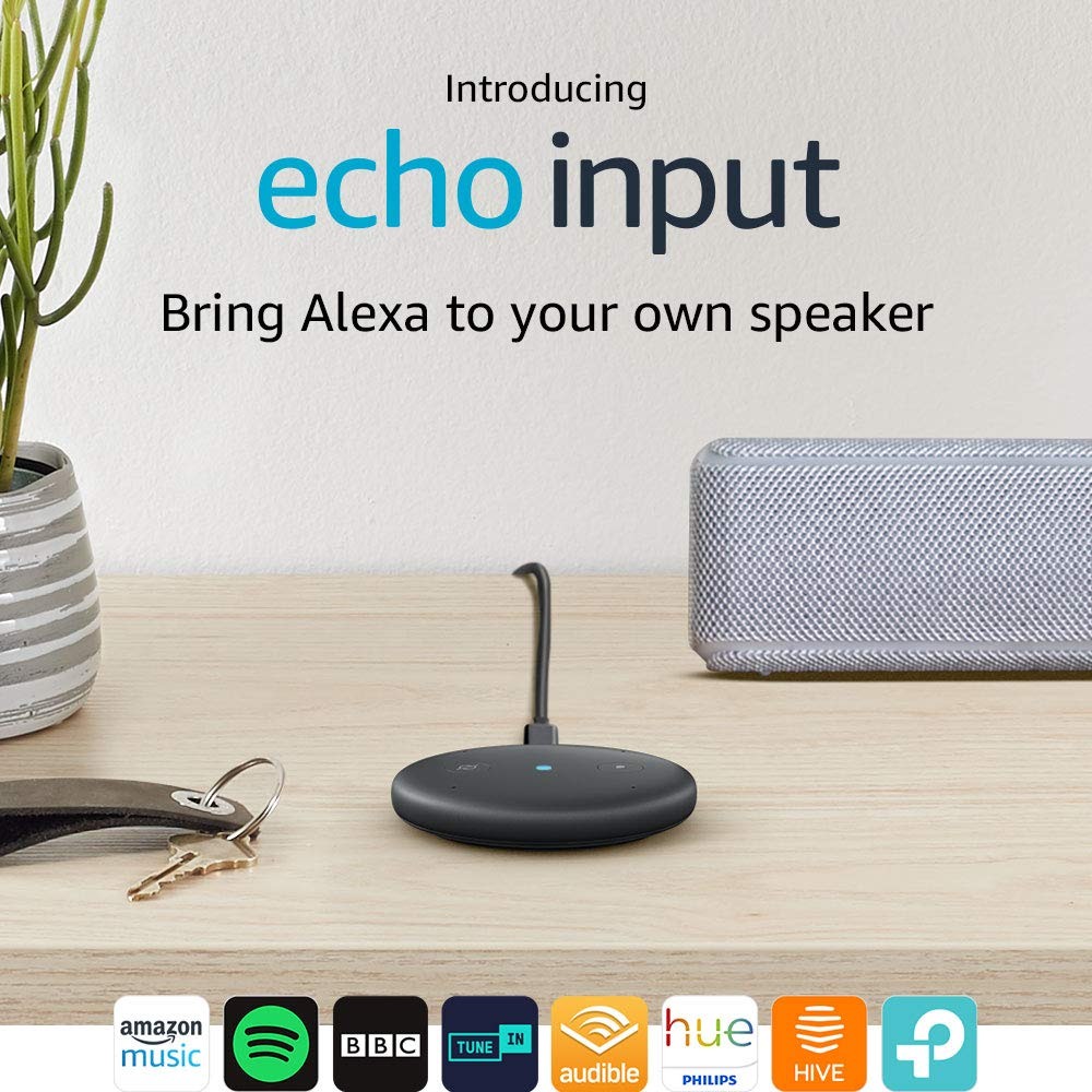 Echo Input (Black) – Bring Alexa to your own speaker