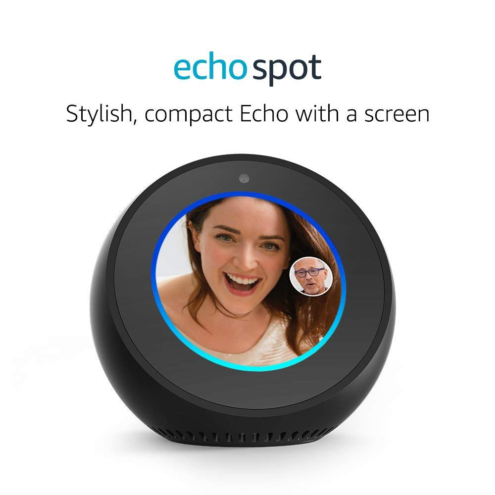 Certified Refurbished Amazon Echo Spot – Black