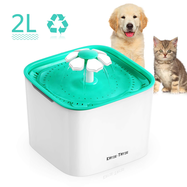 Katze-Tatze Pet Water Fountain 2L Automatic Dog Water Dispenser Pet Drinking Fountain