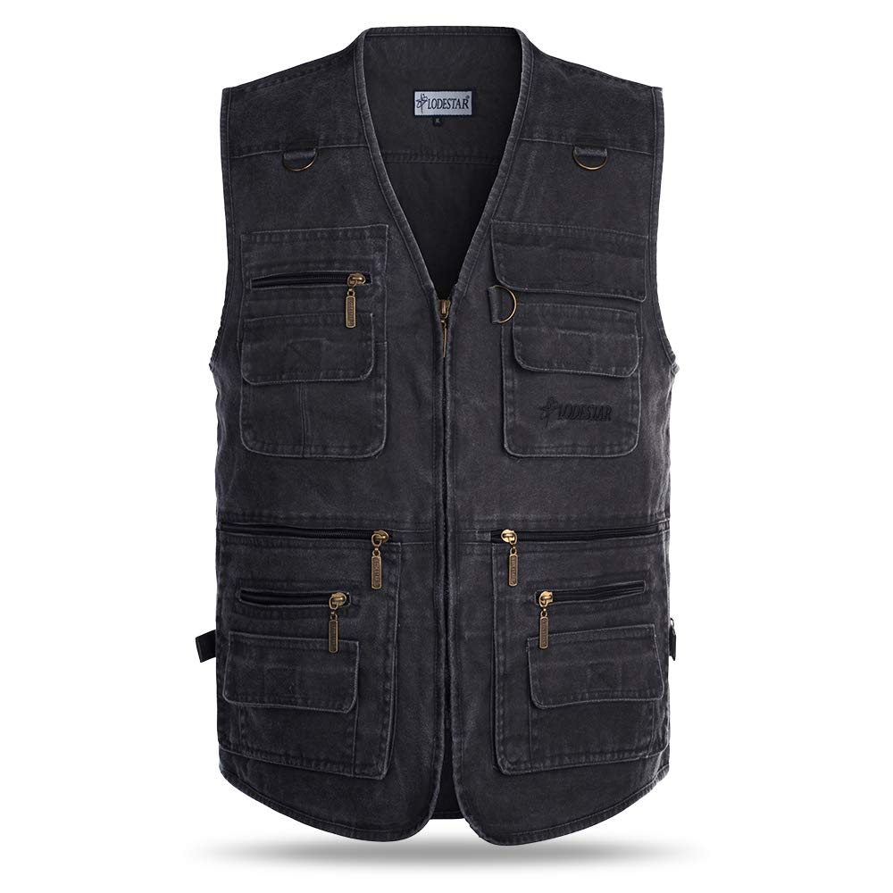 Fishing Waistcoat Outdoor Multi-pocketed Vest Polyester cotton/Popeline Fishing Jacket