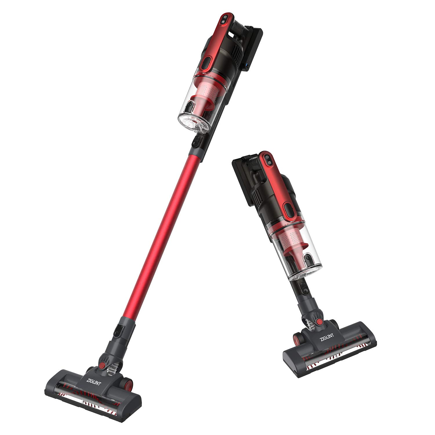 ZIGLINT Cordless Vacuum Cleaner, Long Running Time and Powerful Suction