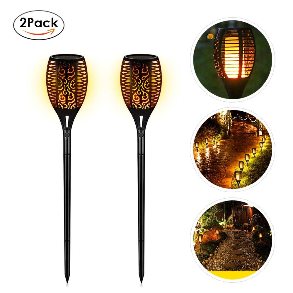 EleLight 2Pack Solar Torch Lights