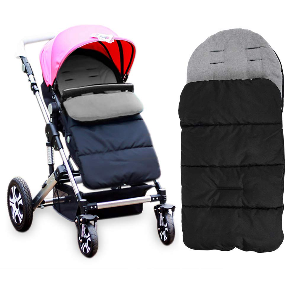 Kidsidol Baby Sleeping Bag Foot-muff Universal 3 in 1 Stroller Annex Mat Foot Cover Waterproof Windproof Cold-Proof Detachable