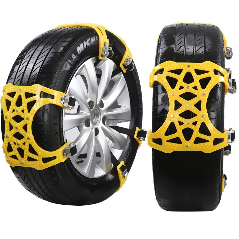 Snow Chain, 6 pcs Universal Anti-skid Snow Chains Adjustable