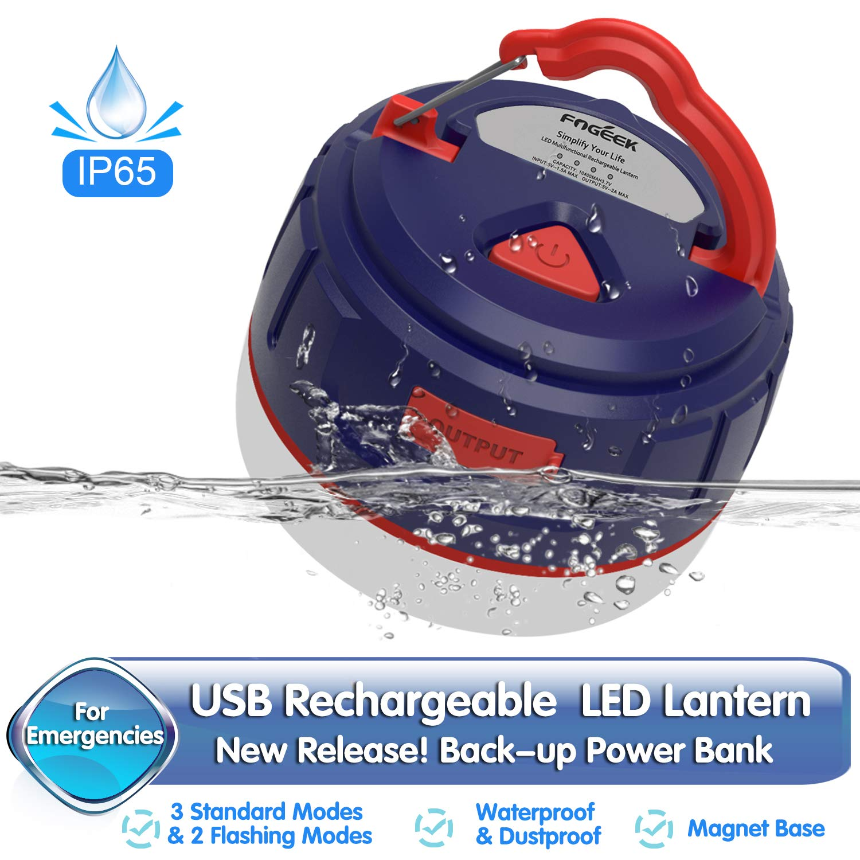 Led Camping Lantern Mini Portable Rechargeable Tent Light Power Bank Night Light Emergency Light