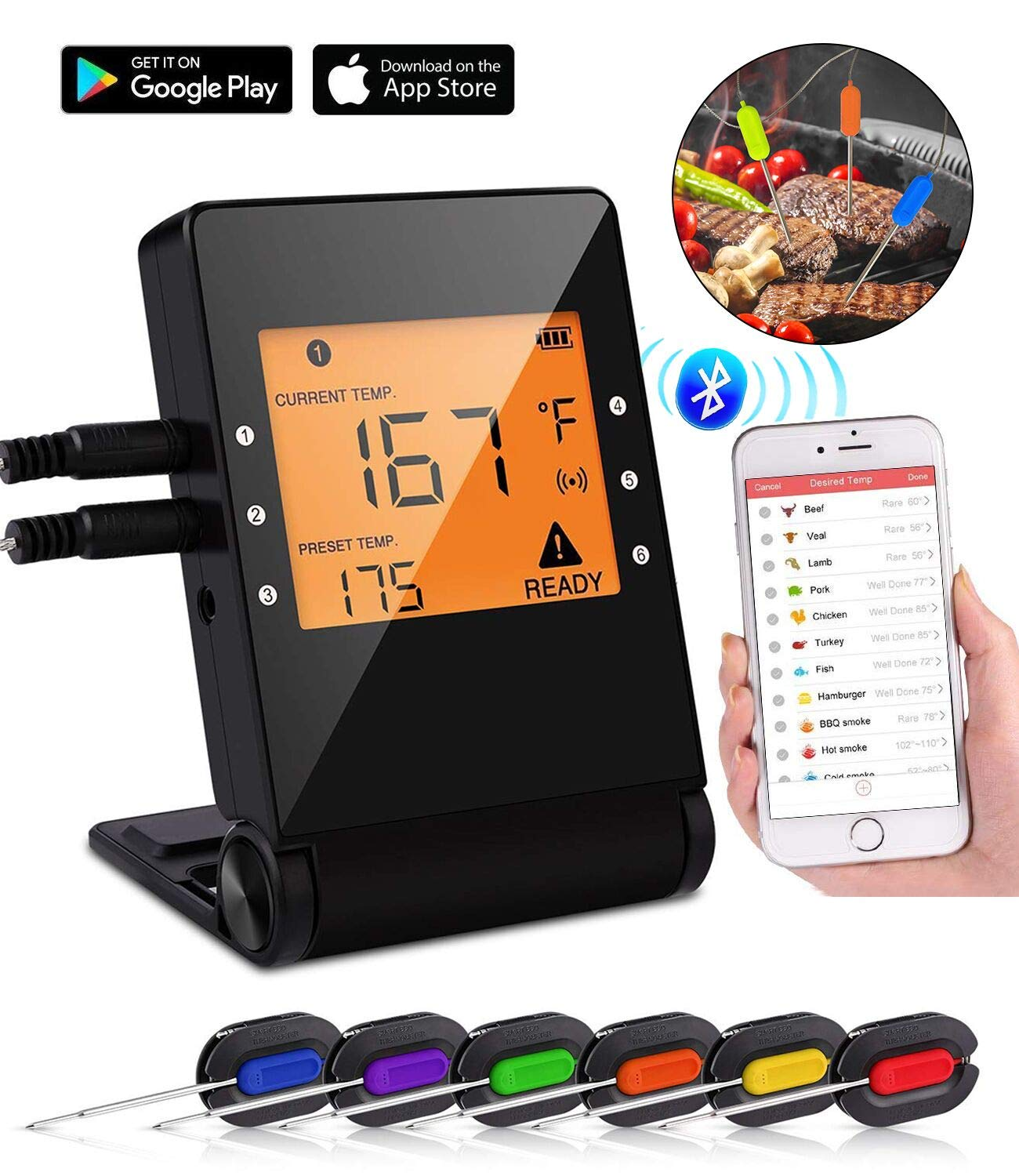 BBC902+wireless thermometer+6probes