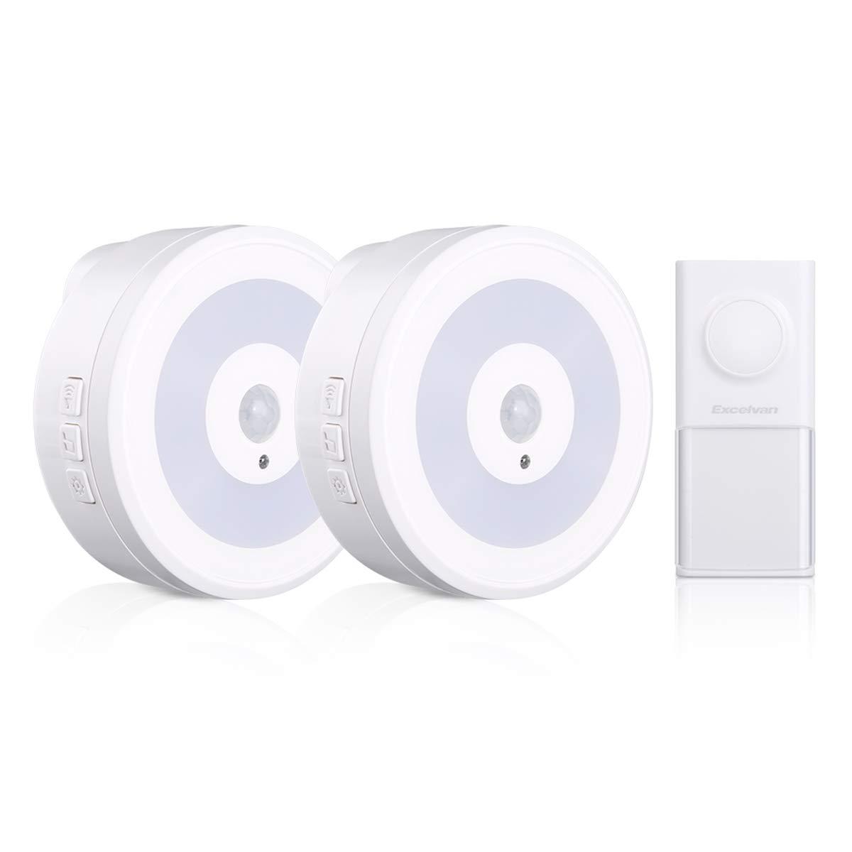 P55 Wriless Doorbell with 2 Receivers Excelvan