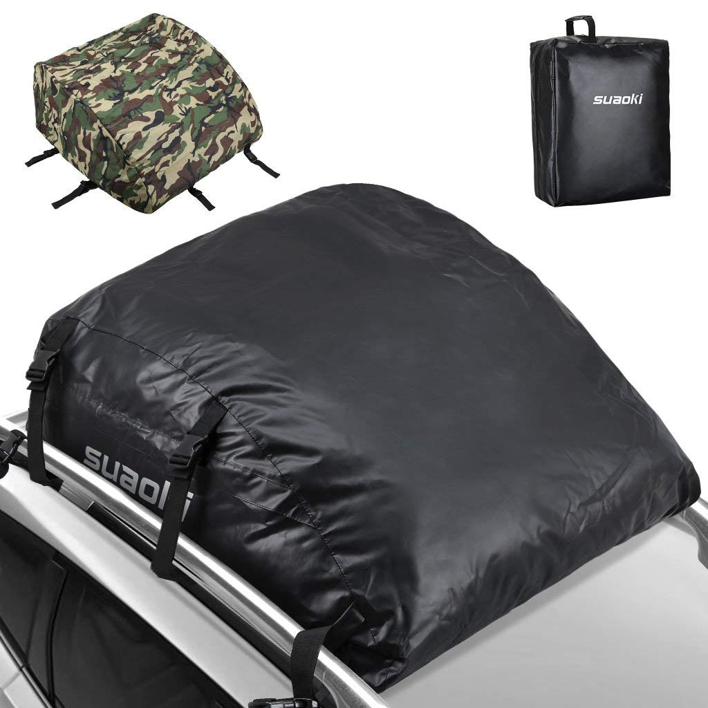 SUAOKI Car Roof Bag 425 Litres (15 Cubic Feet) Large Space with an Waterproof Camouflage Cover