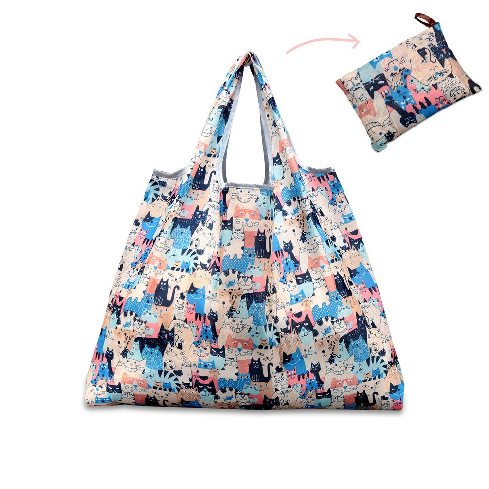 Reusable Shopping Bag (Colorful Cats)