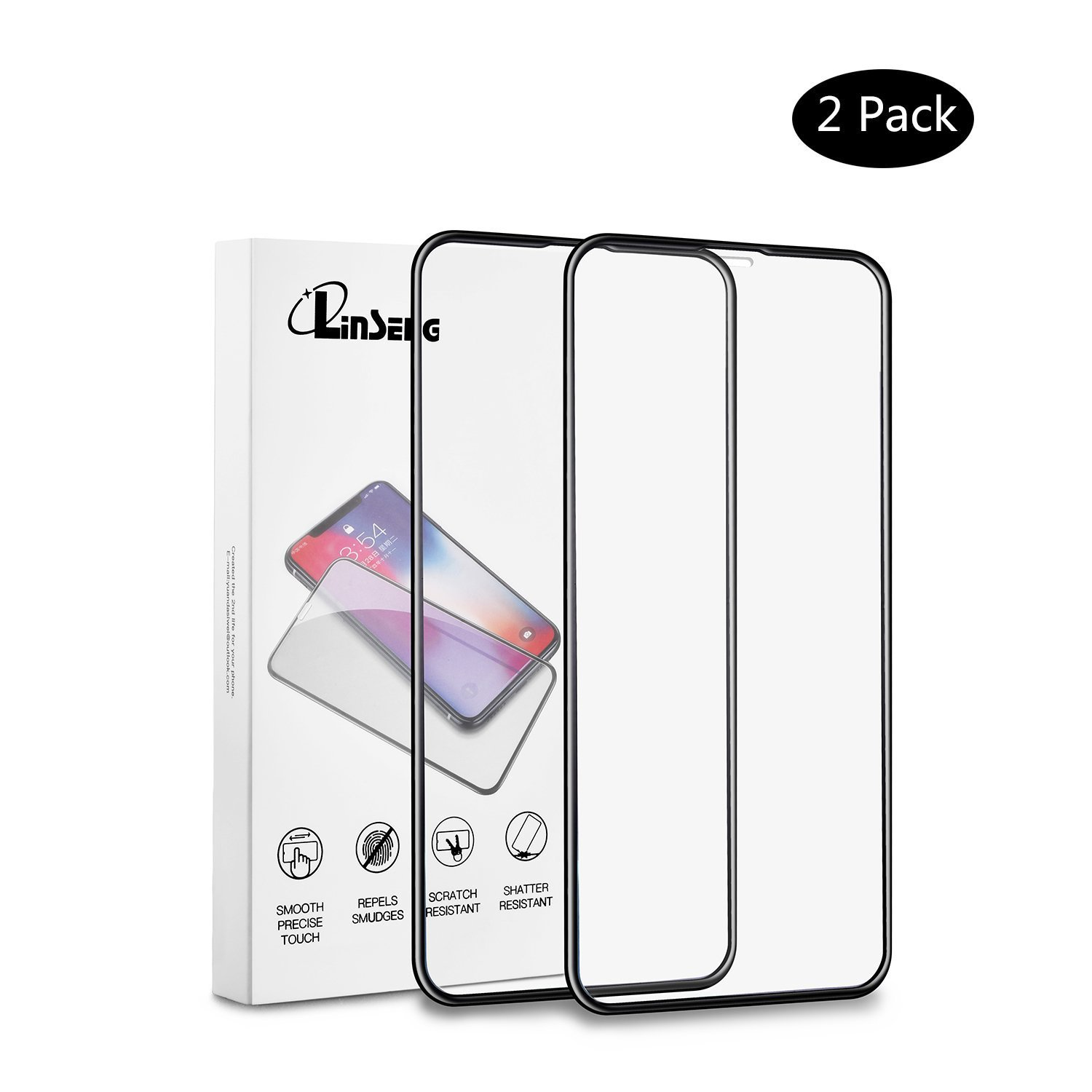 Linseng Screen Protector iPhone X Tempered Glass 0.22mm