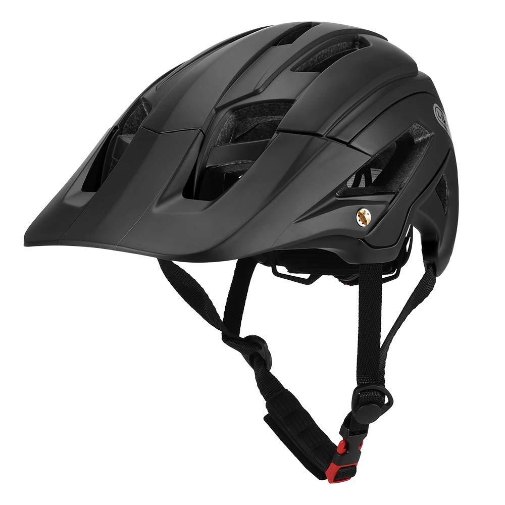 Lixada Mountain Bike Helmet 16 Vents Lightweight Cycling Helmet Bicycle Safety Protective Helmet with Detachable Visor for Adult Men/Women