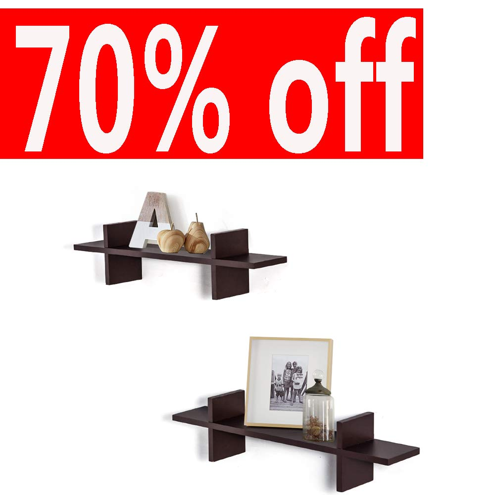 Decorative H Shaped Floating Shelves Wall Mounted Ledge Display Storage