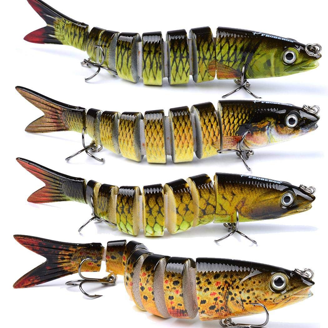 Artificial Multi-section Fishes Fishing Bait Flexible Lure Fishing Supplies