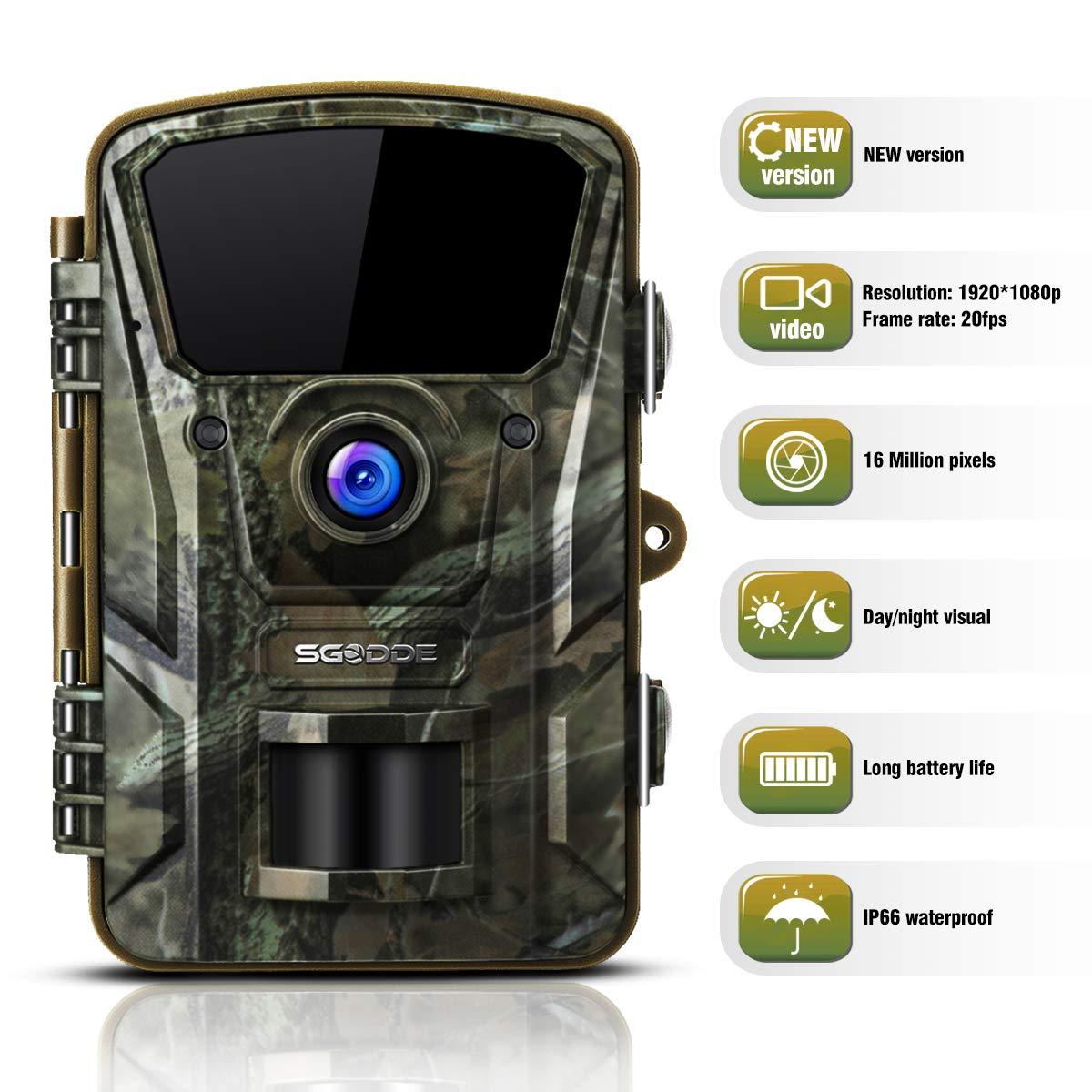 "Wildlife trail camera,16MP 1080P,120°Wide Angle 42Pcs IR LEDs, 2.4"" LCD"