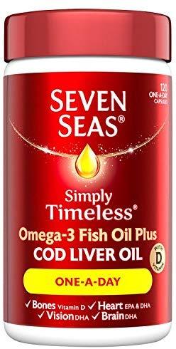 Seven Seas Omega-3 Fish Oil Plus Cod Liver Oil  120 Capsules