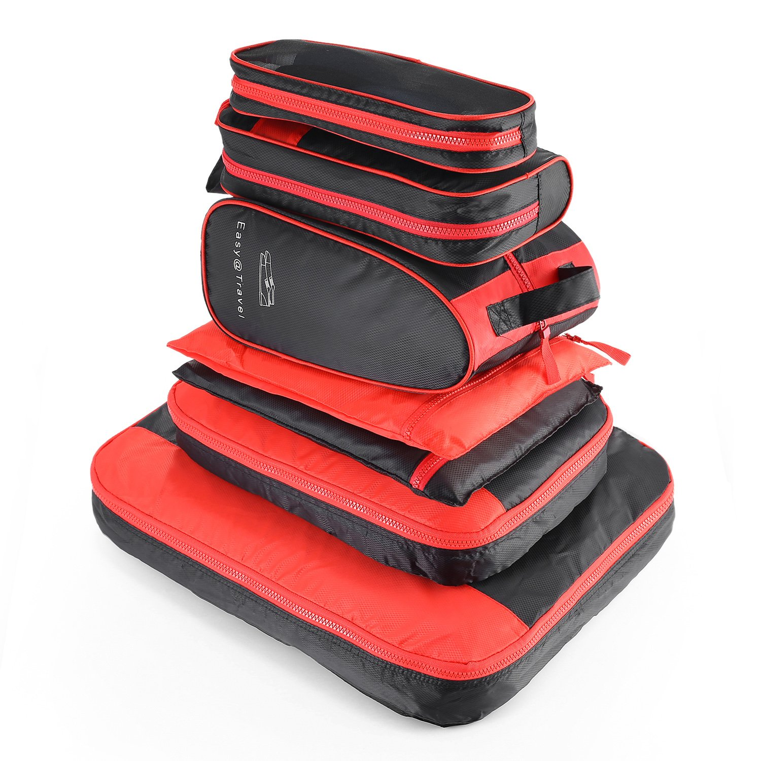 AIZBO 7 Set Waterproof Packing Cubes For Travel