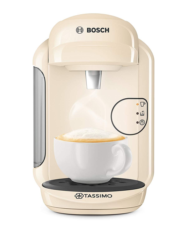 Bosch Tassimo Vivy 2 TAS1407GB Coffee Machine, 1300 Watt, 0.7 Litre – Cream
