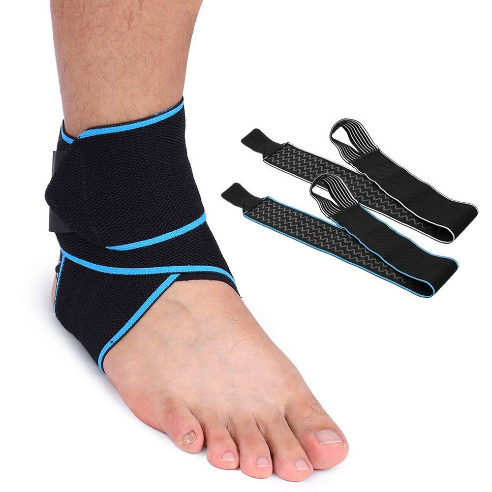 Ankle Support Compression Ankle Brace Bandage Adjustable Nylon Strapping Sprained Ankle Ligament Damage Joint Pain Achilles Tendonitis Sports Running Rugby Football After Injury Elastic Men Women Kids