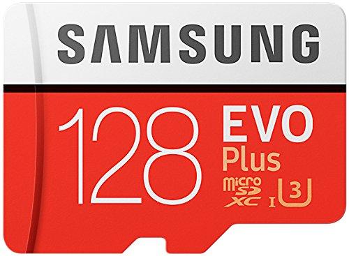 Samsung MB-MC128GA/AMZ 128 GB 100 MB/s Class 10 U3 Memory Evo Plus MicroSD card with Adapter