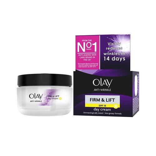 Olay Anti-Wrinkle Firm and Lift Anti-Ageing Day Cream Moisturiser, 50 ml