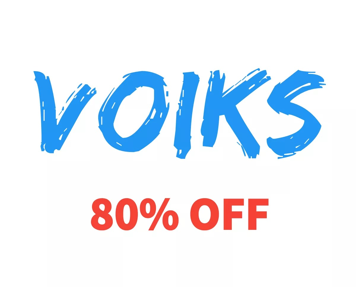 80% OFF Voiks on Amazon