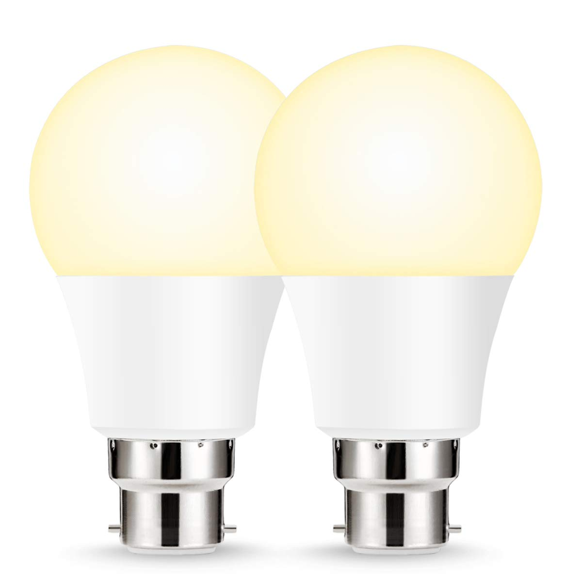 LOHAS LED B22 Smart Bulb, A60 WiFi Light Bulb, Compatible with Amazon Alexa, Google Home, Warm White 2700K, Remote Control by Smartphone iOS & Android
