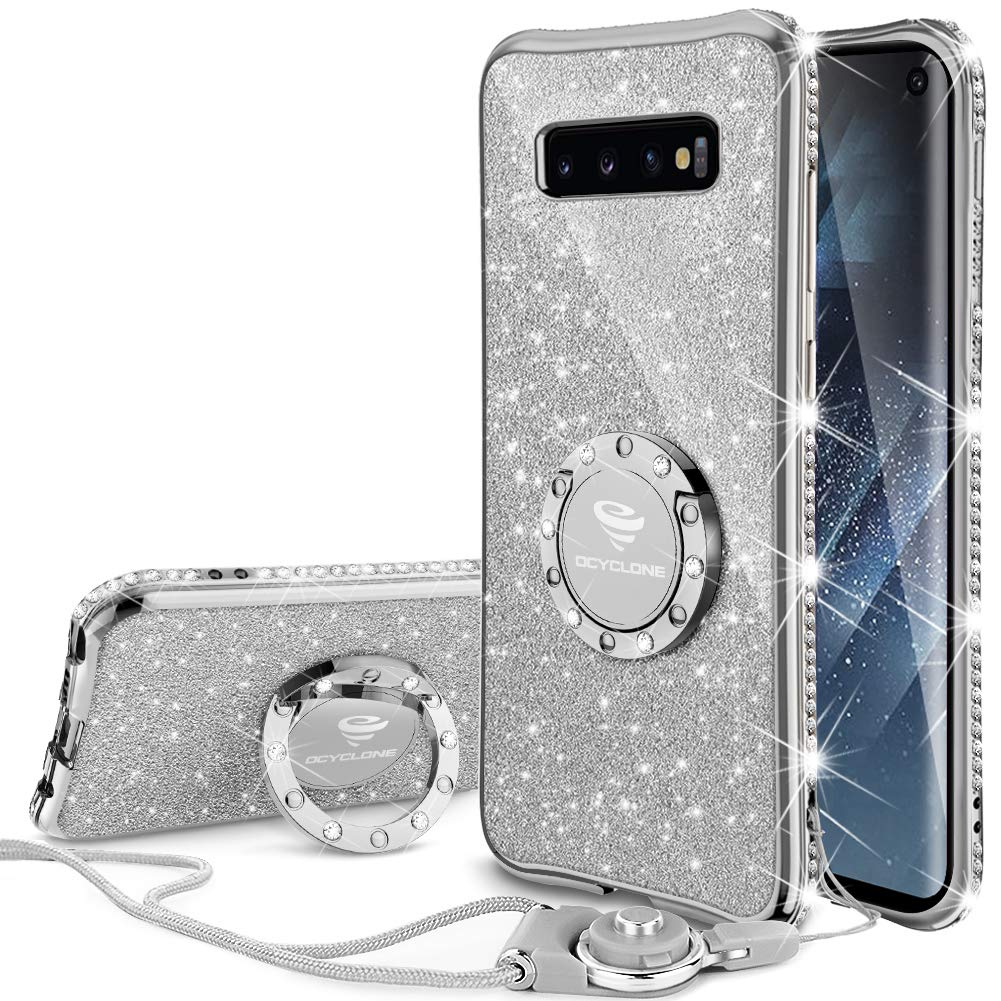 OCYCLONE Samsung Galaxy S10 Case, Glitter Diamond Cute S10 Phone Case