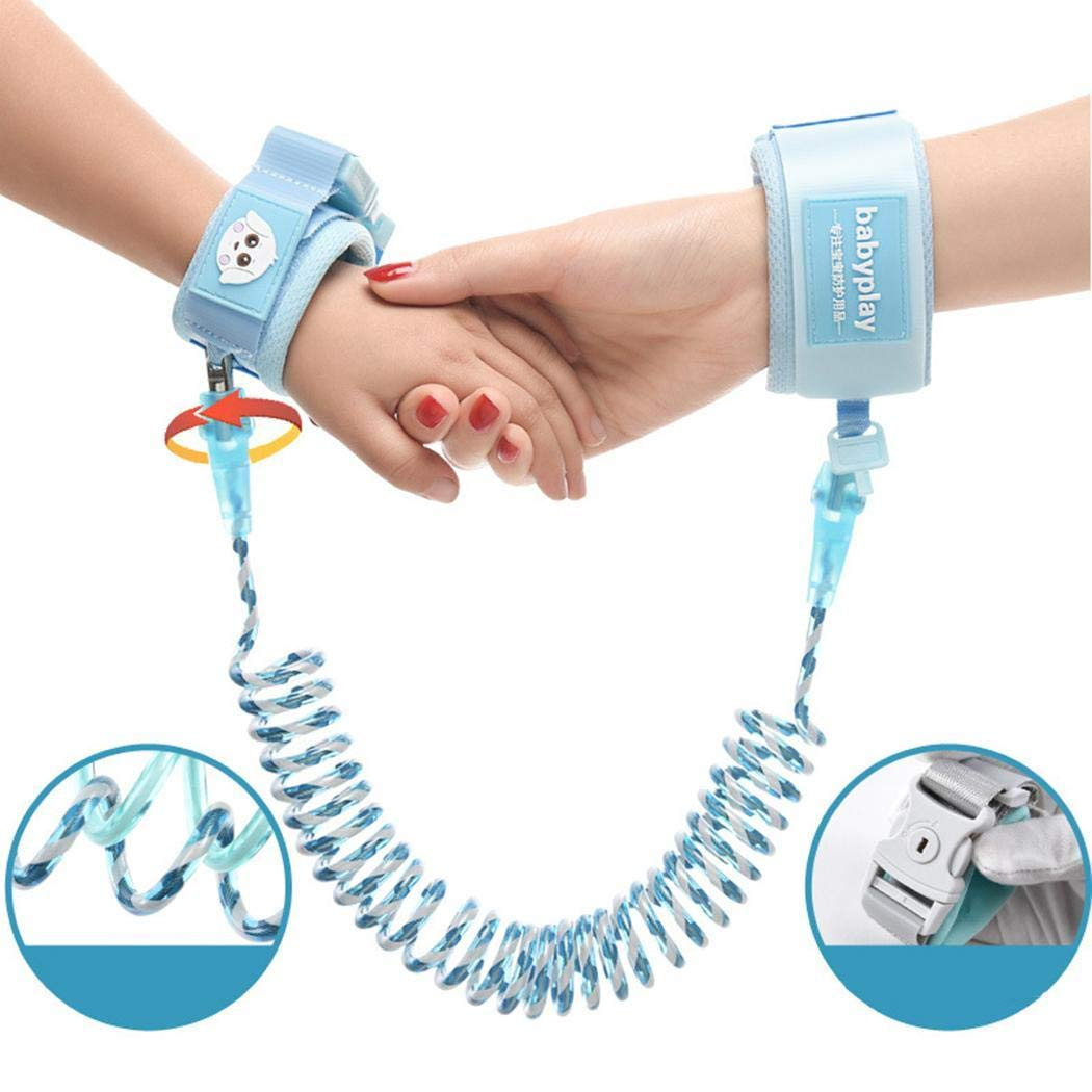 Iiloens Kids Safety Harness Children Leash Wrist Link Anti-lost Traction Rope Safety Harnesses