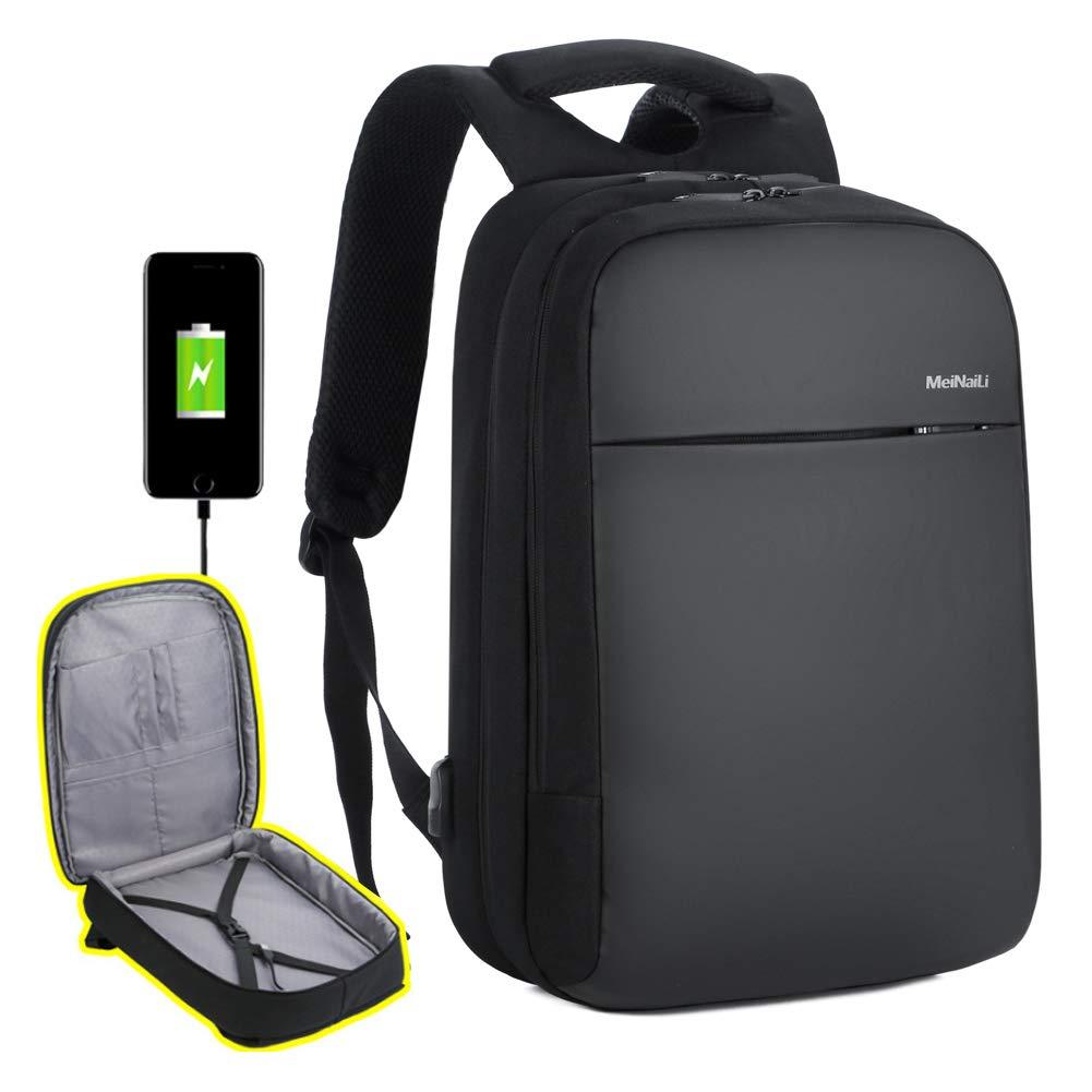 MEINAILI Water Resistant Charging Laptop Backpack