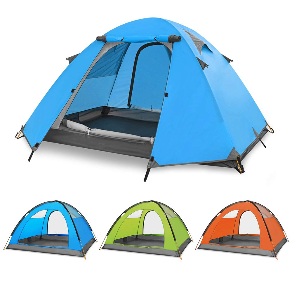 SESAME STAR 2-3 Person Camping Tent, Double Layer Waterproof Backpacking Tent