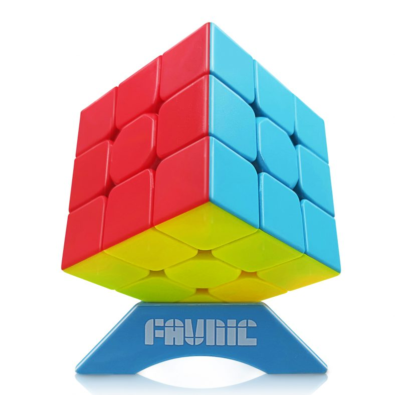 FAVNIC Speed Cube Stickerless, QiYi Warrior W Magic Cube Smooth Speed Magic Cube Puzzle for Kids and Adults