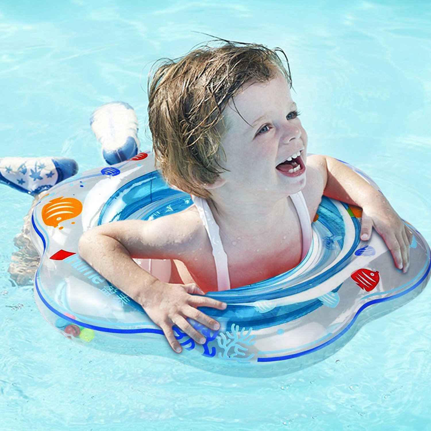 Magicfun Baby Swimming Float Inflatable Float Swimming Ring Pool for Infant Toddlers Kids of 3-48 Months