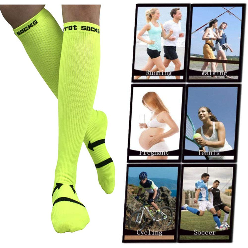 Compression Socks for Women & Men (20-30 mmhg) Graduated Athletic Fit for Playing Football, Running, Nurses, Flight Travel
