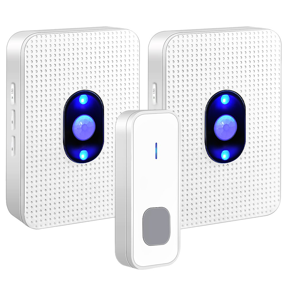 Wireless Doorbell,Waterproof Door Bell with Night Light & LED Flash