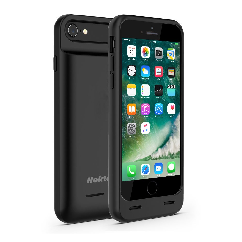 3100mAh iPhone 8 battery Case,black