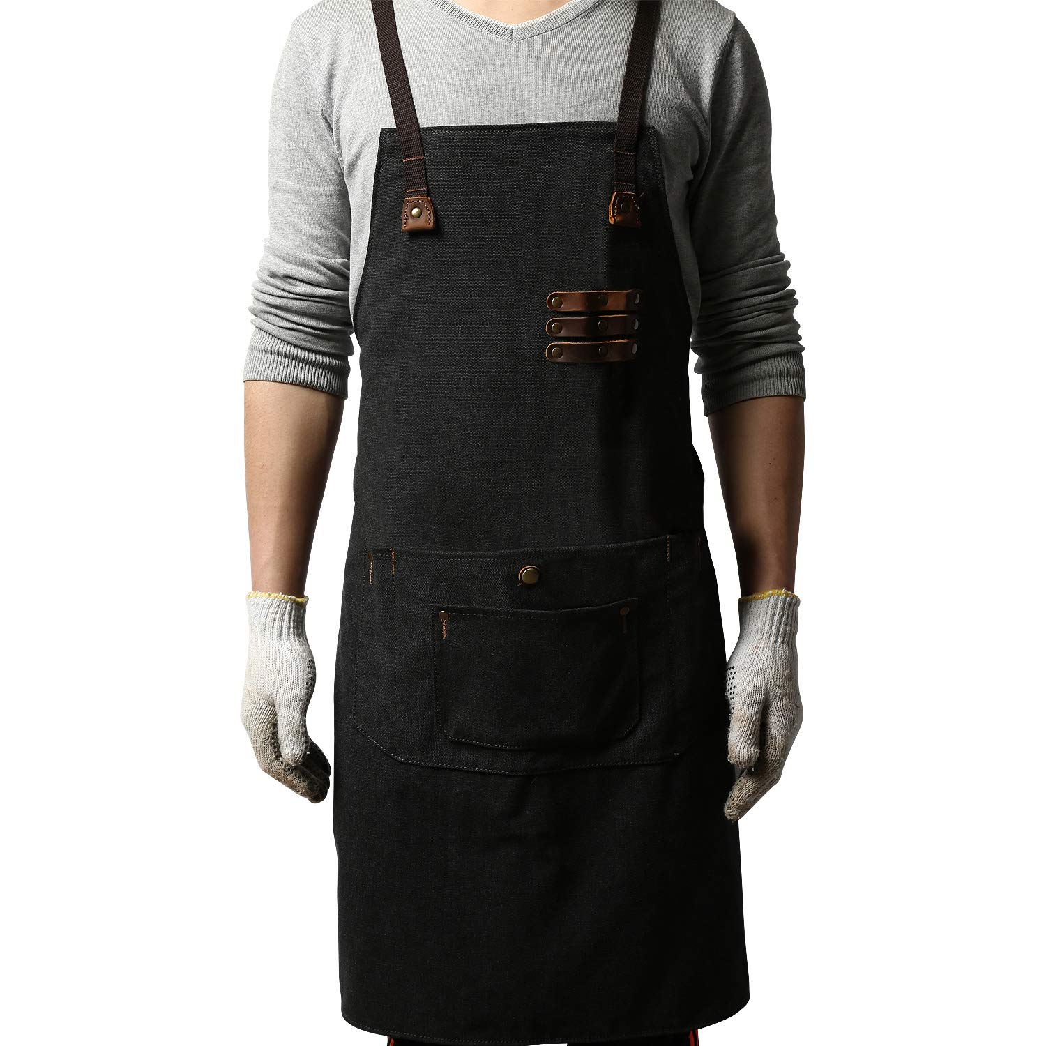 Tool Apron with 7 pockets,Black