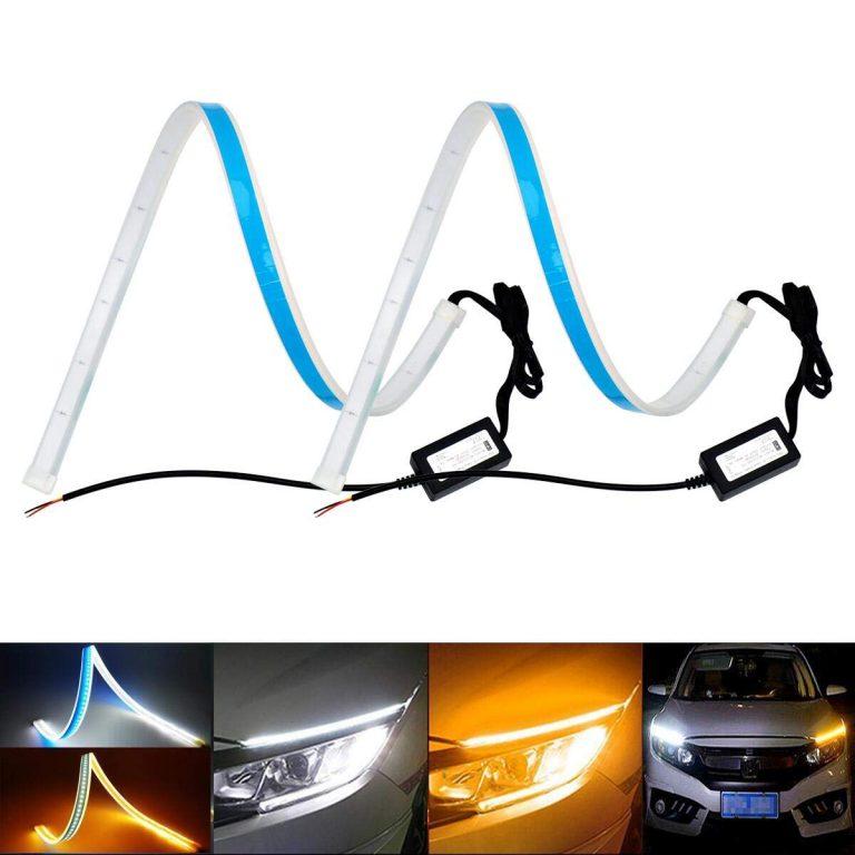daytime running lights,60CM, 45CM, white-amber, blue-amber