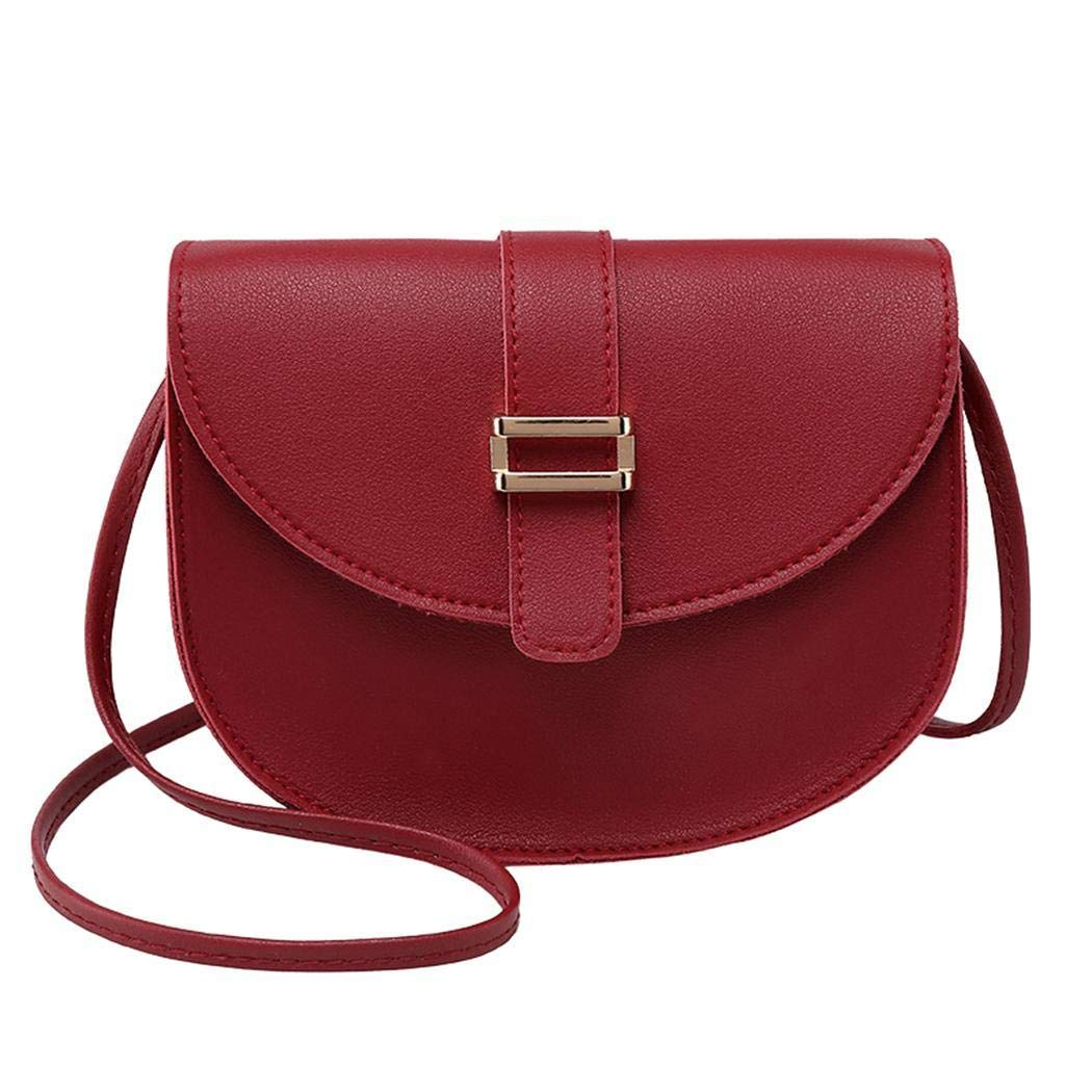 Women Shoulder Saddle Purses Crossbody Bags Leather Satchel